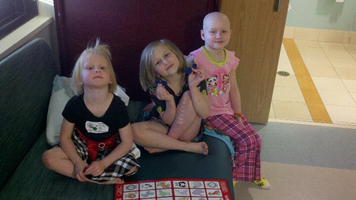 Jane and her sisters liked to play games when they came to visit her in the hospital.