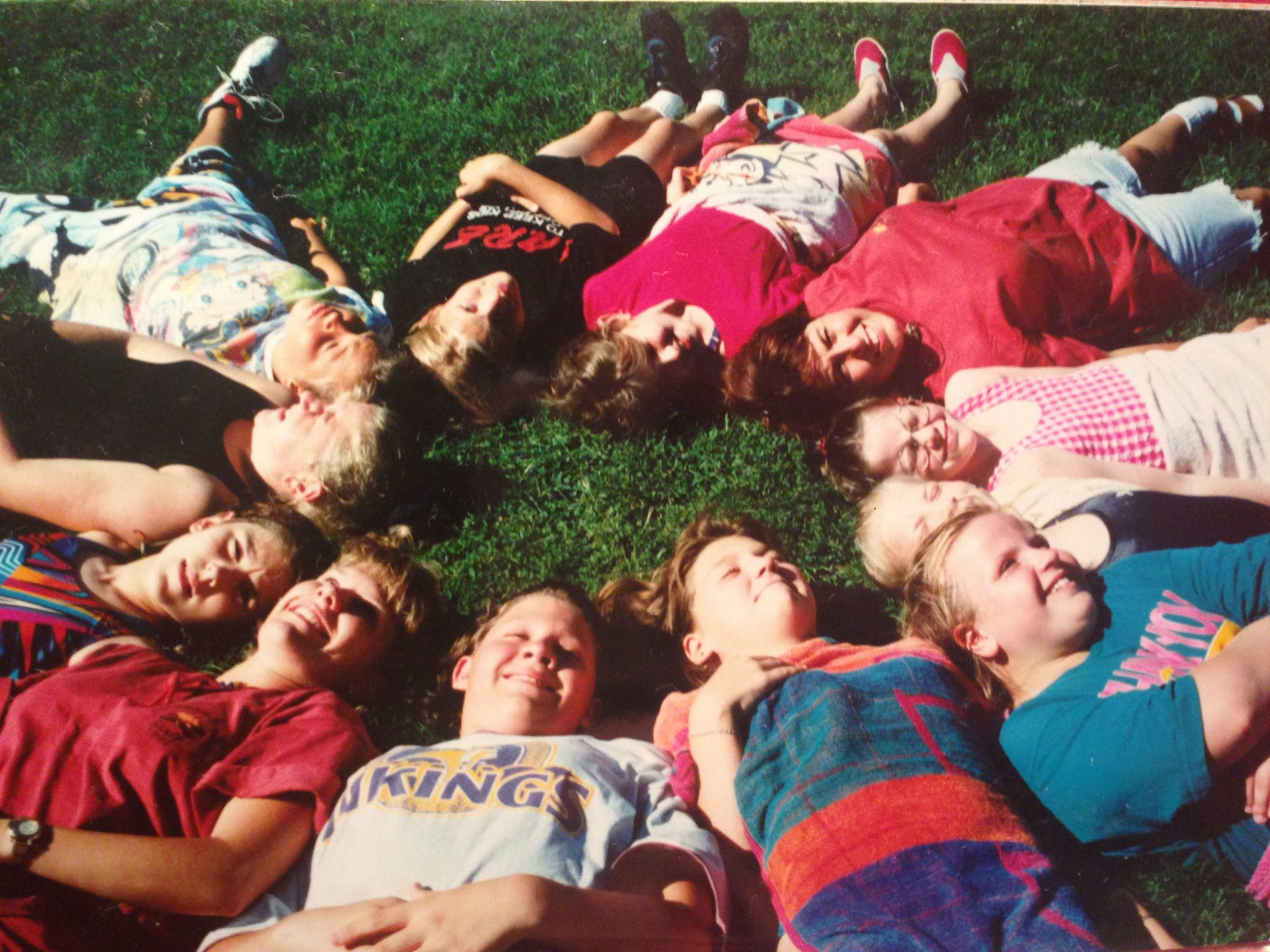My cabin when I was a camper-I'm in the bottom, right hand corner in the tealish colored shirt.
