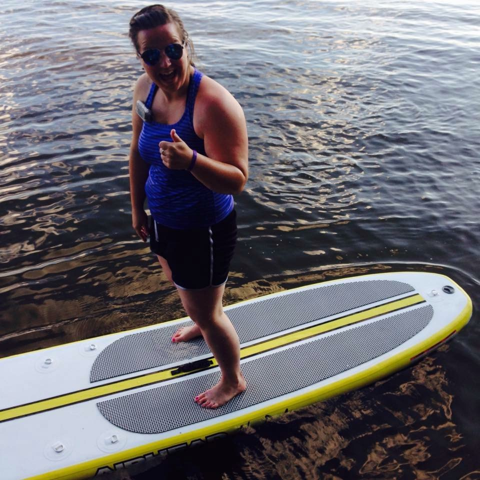 Rocking my insulin pump while paddle boarding.