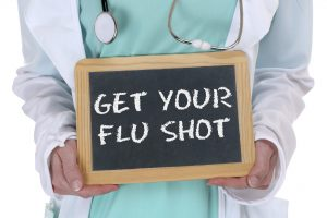 Get your flu shot disease ill illness healthy health doctor