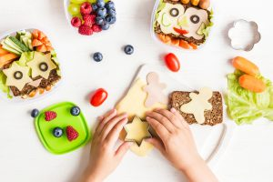 School lunch box for kids. Cooking.