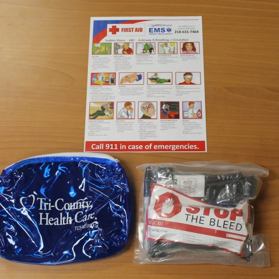 photo of the actual stop the bleed kit