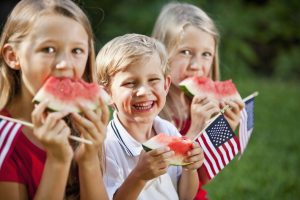 Children at Fourth of July picnic
