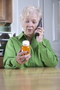 Woman Phoning in Prescription Refill