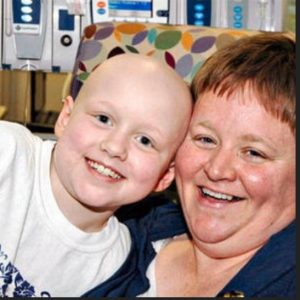 Jil Fiemeyer with her daughter, Jane, before she passed away from cancer.