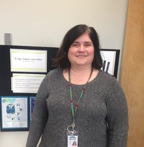 Erica Keppers educates the public about E-cigarettes and the dangers of them.