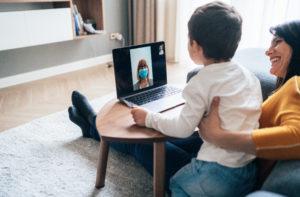 Video call online during quarantine to keep social distance