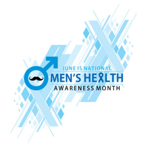national men's health awareness month celebrate in june, poster or banner design