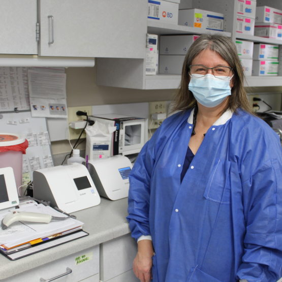 Cindy Kube-Parks has worked in the lab for nearly 30 years.