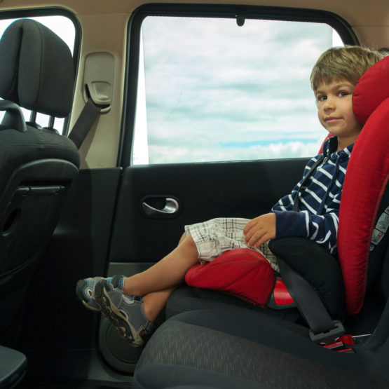 Booster seats are the last step before a child can use a normal seat.